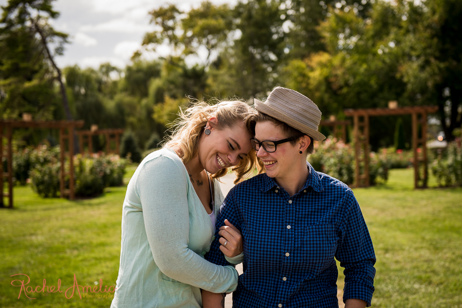 Engagement photos at Allentown Rose Garden
